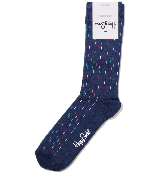 Happy Socks Blue Rain Melange Sock