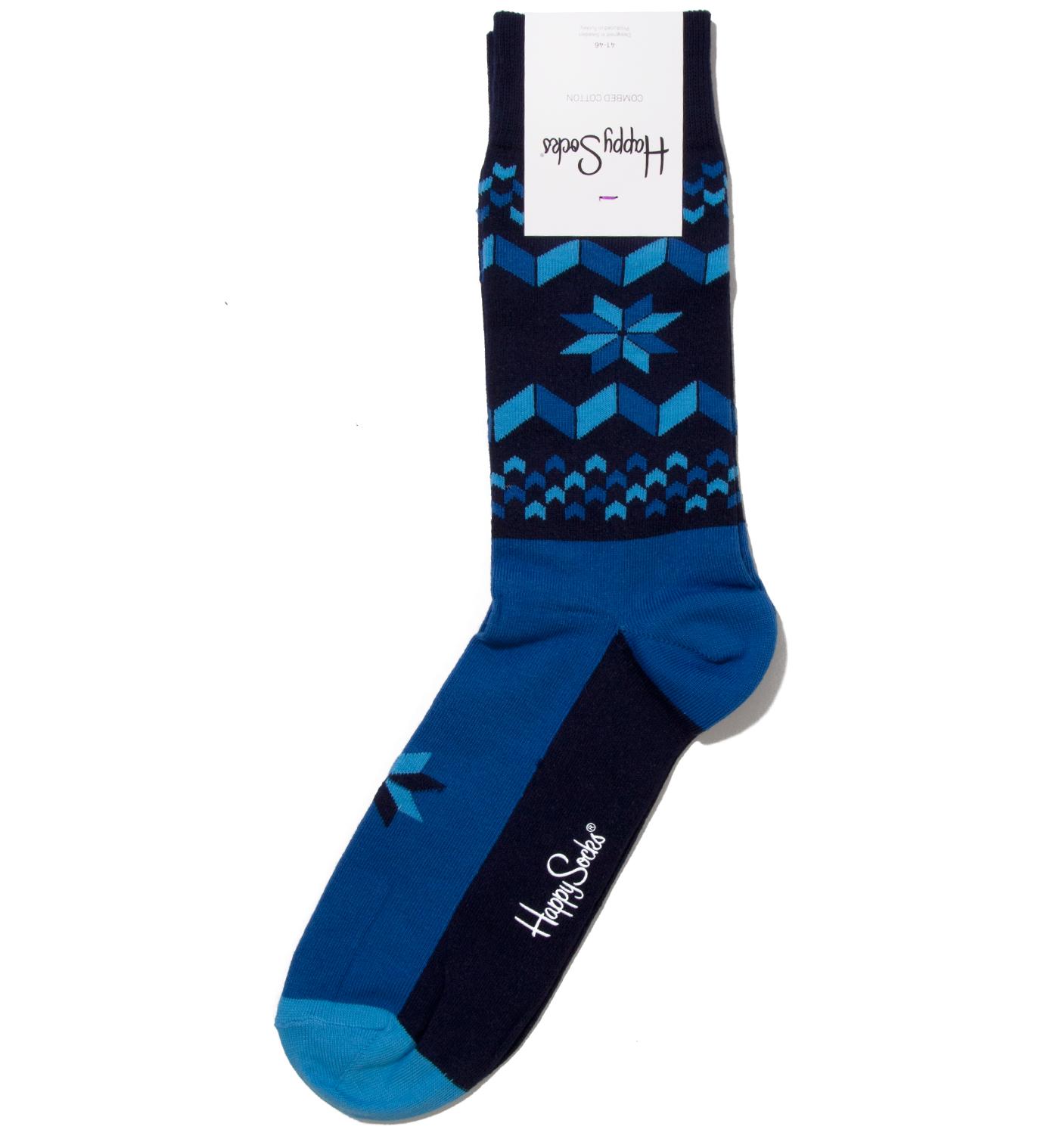 Happy Socks Blue Snowflake SockBlue
