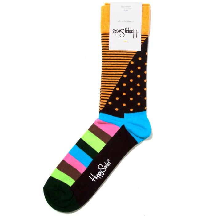 Happy Socks Orange Dot and Stripes Sock