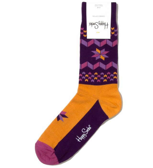 Happy Socks Purple Snowflake Sock