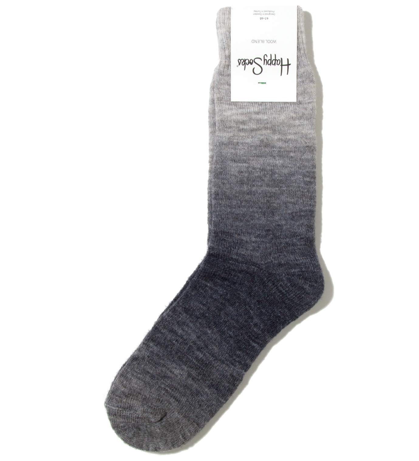 Happy Socks Blue Shaded Wool Blend Sock