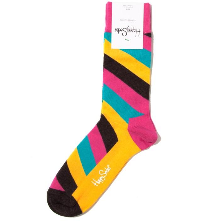 Happy Socks Pink/Yellow Polka Sock