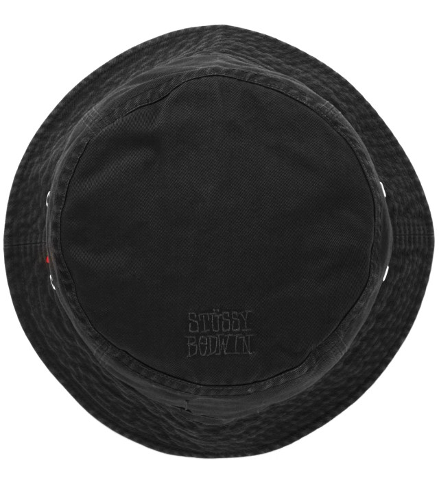 "BEDWIN & THE HEARTBREAKERS Stussy x The Heartbreakers Black ""James"" Canvas Jungle Hat"