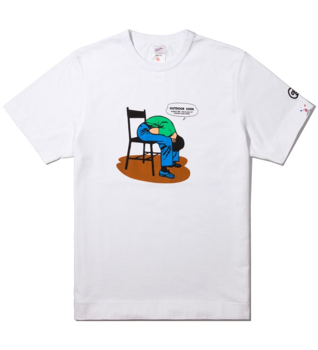 GARBSTORE White Hiking Rules T-Shirt