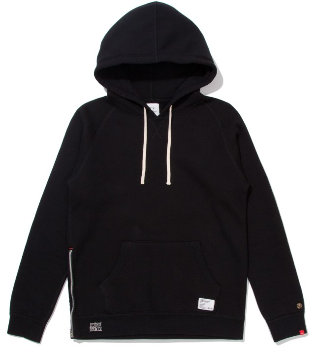 "BEDWIN & THE HEARTBREAKERS Stussy x The Heartbreakers Black ""Russell"" Pullover Parka Hoodie"