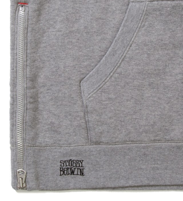 "BEDWIN & THE HEARTBREAKERS Stussy x The Heartbreakers Grey ""Russell"" Pullover Parka Hoodie"