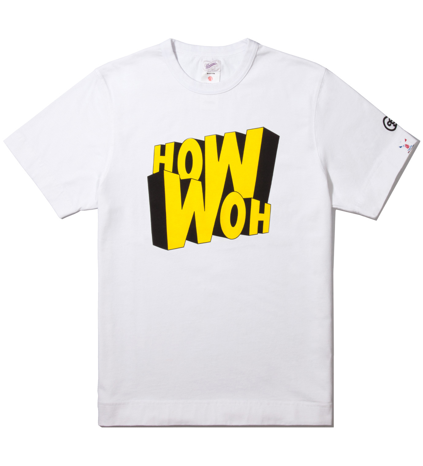 GARBSTORE White How Woh Print T-Shirt