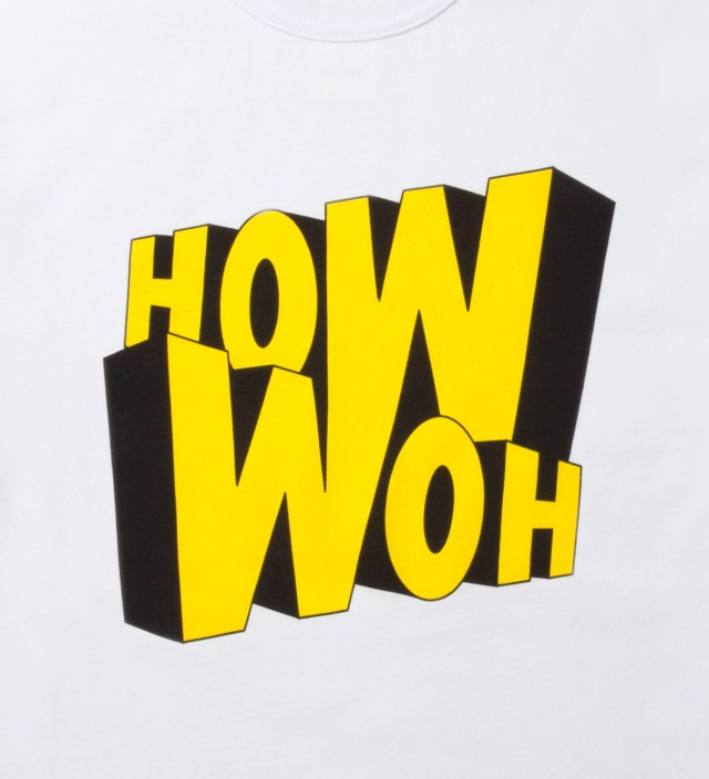 GARBSTORE White How Woh Print T-Shirt