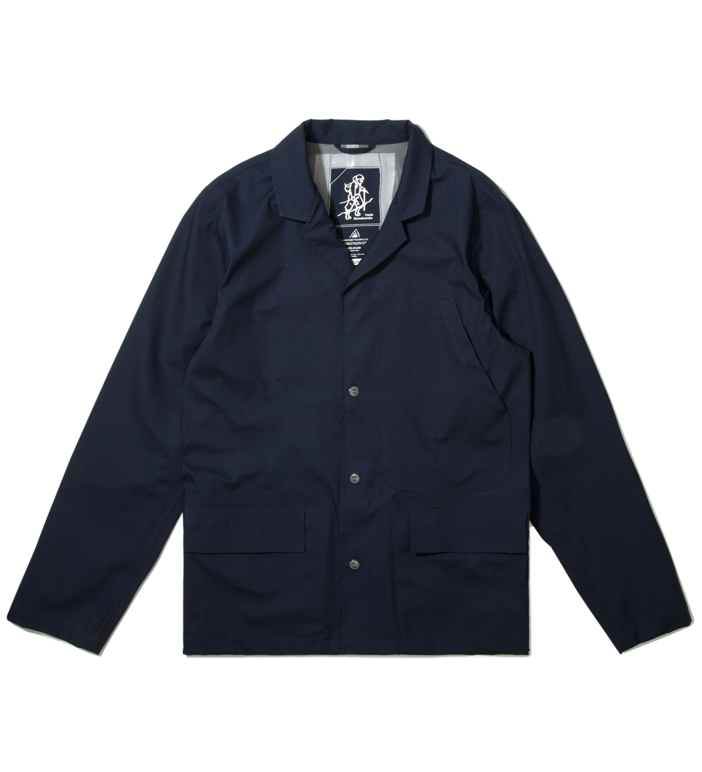 GARBSTORE Navy Laser Cut Seam Welded Fell Jacket