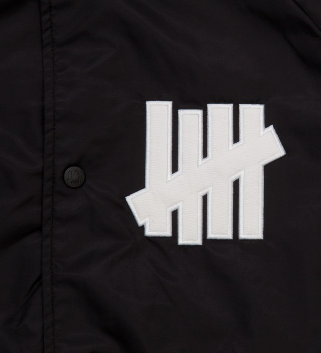 UNDEFEATED Black Satin Snap Up Jacket