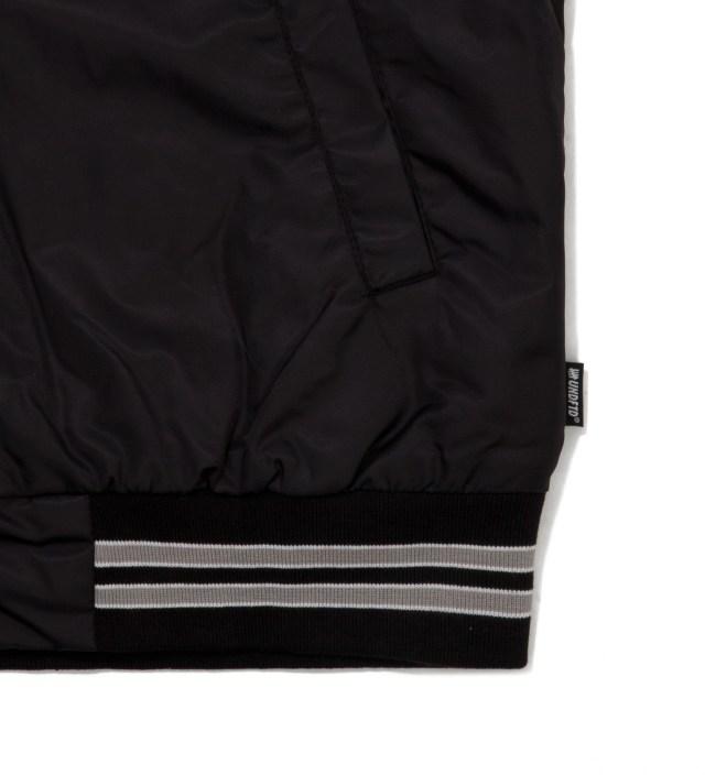 Undefeated Black Satin Snap Up Jacket
