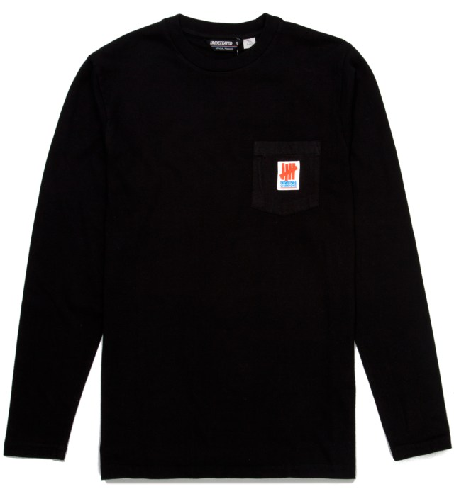 UNDEFEATED Black Fighting Pocket Long Sleeve T-Shirt