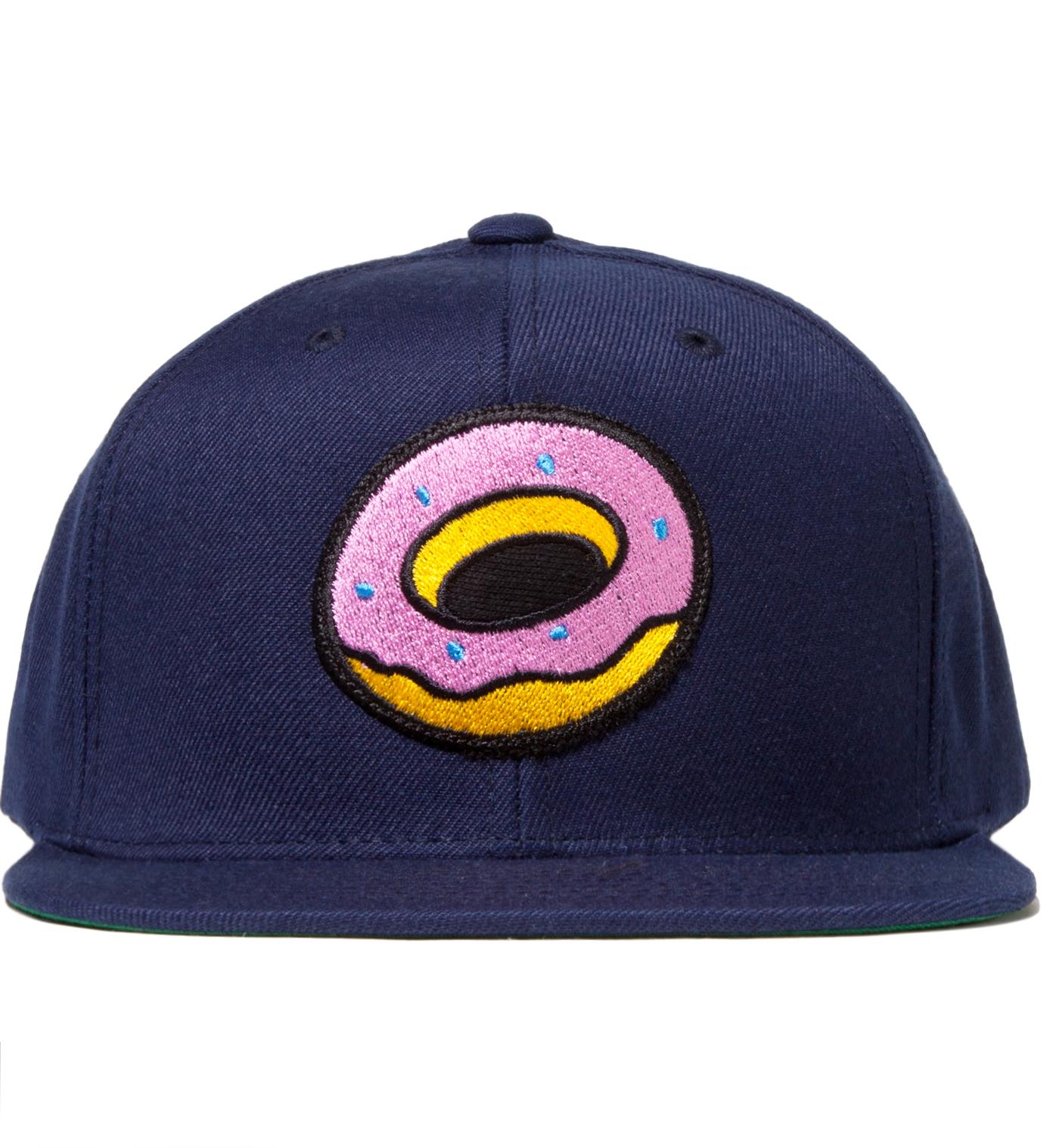 Odd Future Navy OF Donut Snapback Cap