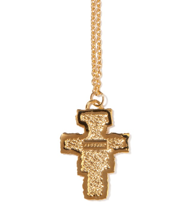 AMBUSH Gold Small Cross Pendant