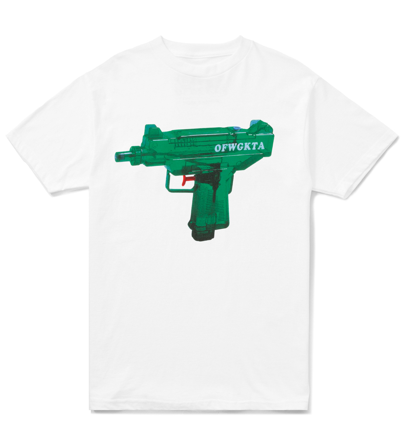 Odd Future White OFWGKTA Water Gun Uzi T-Shirt