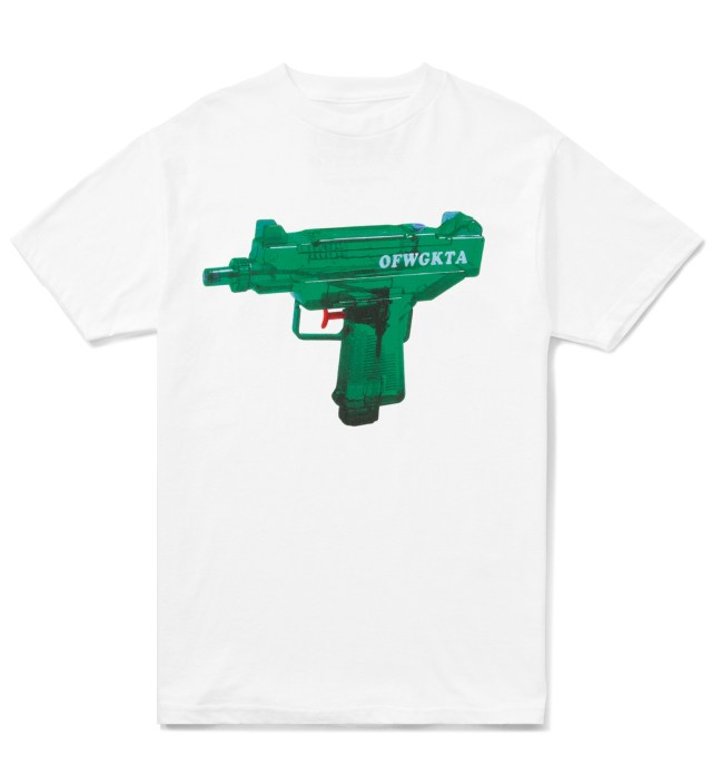 Odd Future White OFWGKTA Water Gun Uzi T-Shirt