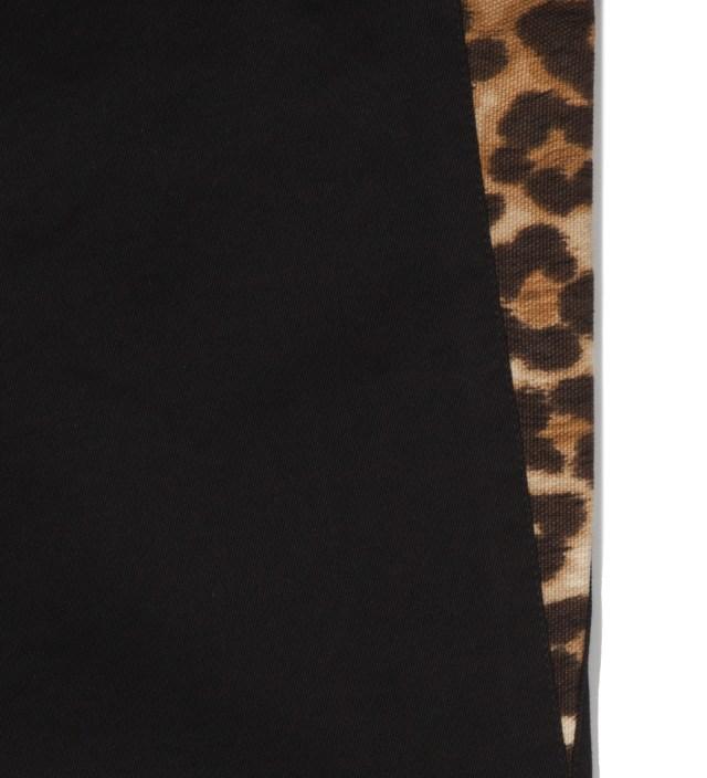 Head Porter Plus Black Chino Leopard Pants