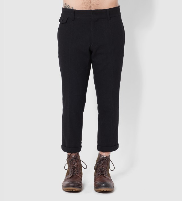 "BEDWIN & THE HEARTBREAKERS Stussy x The Heartbreaker Black ""Lou"" 9 Length Trousers"