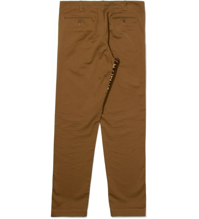 Head Porter Plus Ocher Chino Leopard Pants