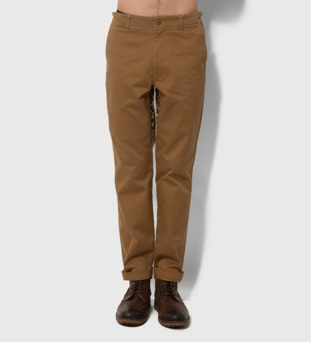 Head Porter Plus Ocher Chino Leopard Pants