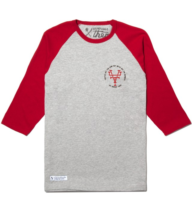 Us Versus Them Red Branded Raglan