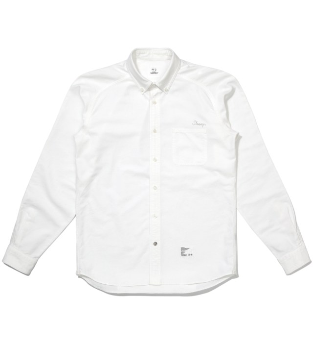"BEDWIN & THE HEARTBREAKERS Stussy x The Heartbreaker White B.D. ""Francesco"" Shirt"