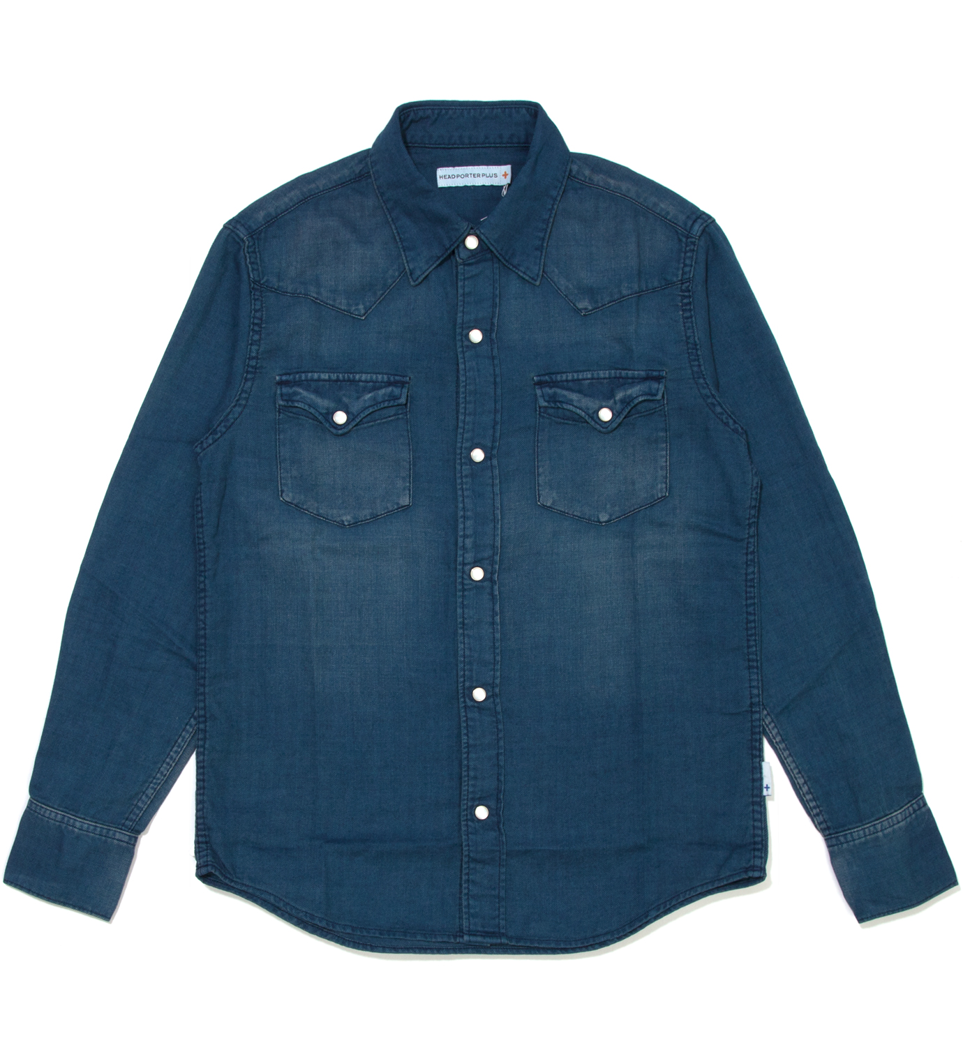 Head Porter Plus Indigo Western Nel Shirt