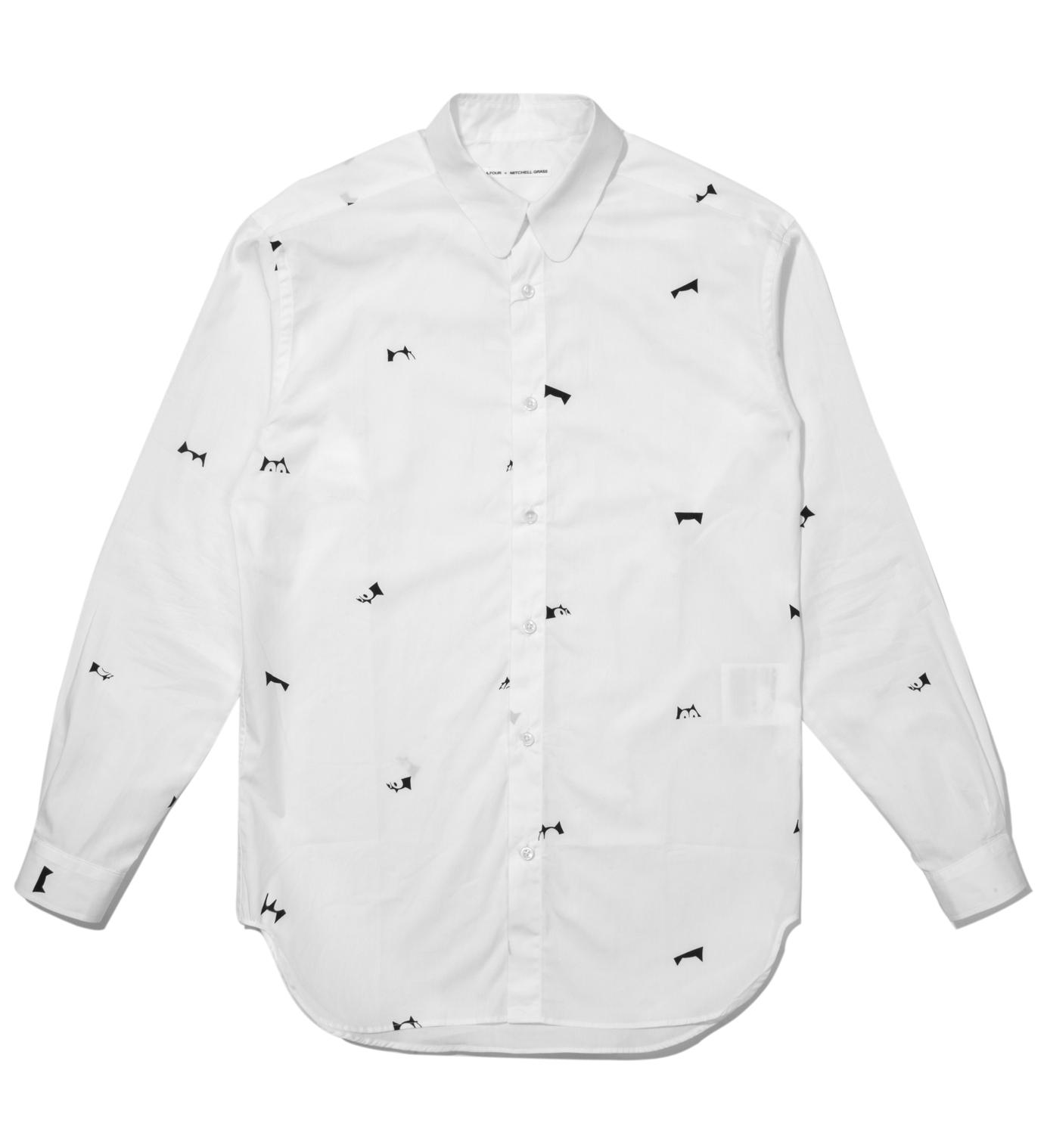 A.FOUR White Happy Accident Felix Culpa Mini Head Shirt