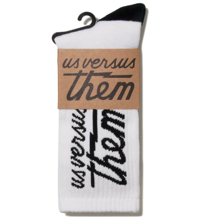 Us Versus Them White Magnum Crew Socks