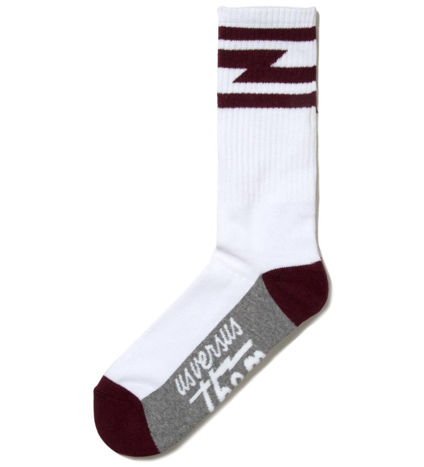 Us Versus Them White Del Mar Crew Socks