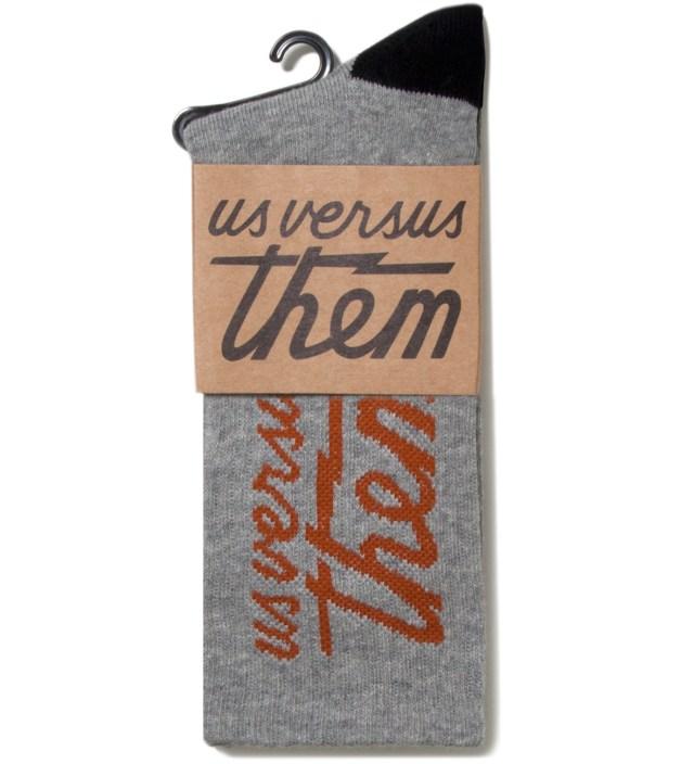 Us Versus Them Heather Grey Magnum Crew Socks