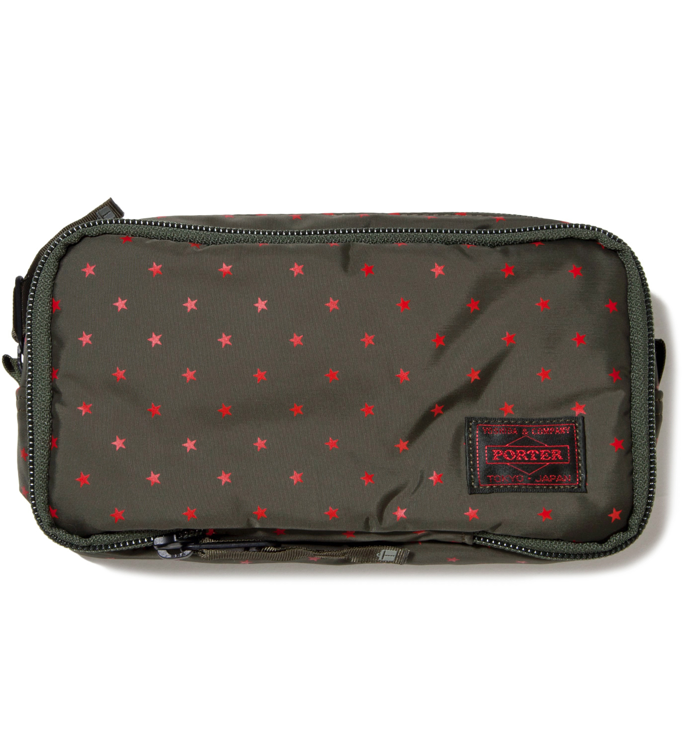 Head Porter Olive Stellar Cosmetic Case