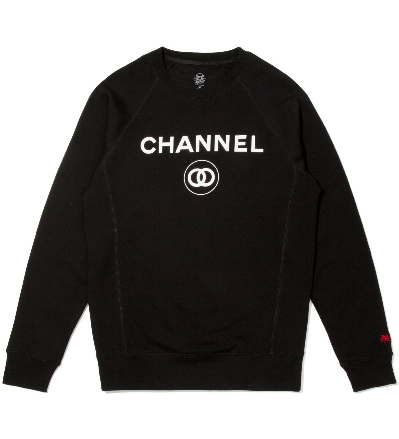 SSUR Black Channel Zero Crewneck