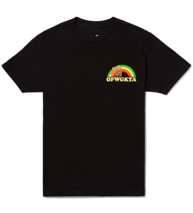 Odd Future Black Rainbow Cat T-Shirt