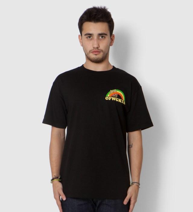 Odd Future Black Rainbow Cat T-Shirt