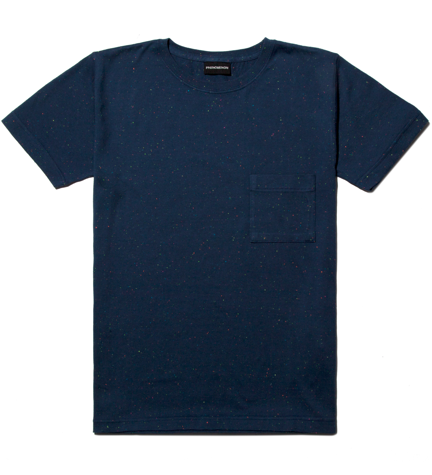 PHENOMENON Navy Mix Cotton Pocket T-Shirt