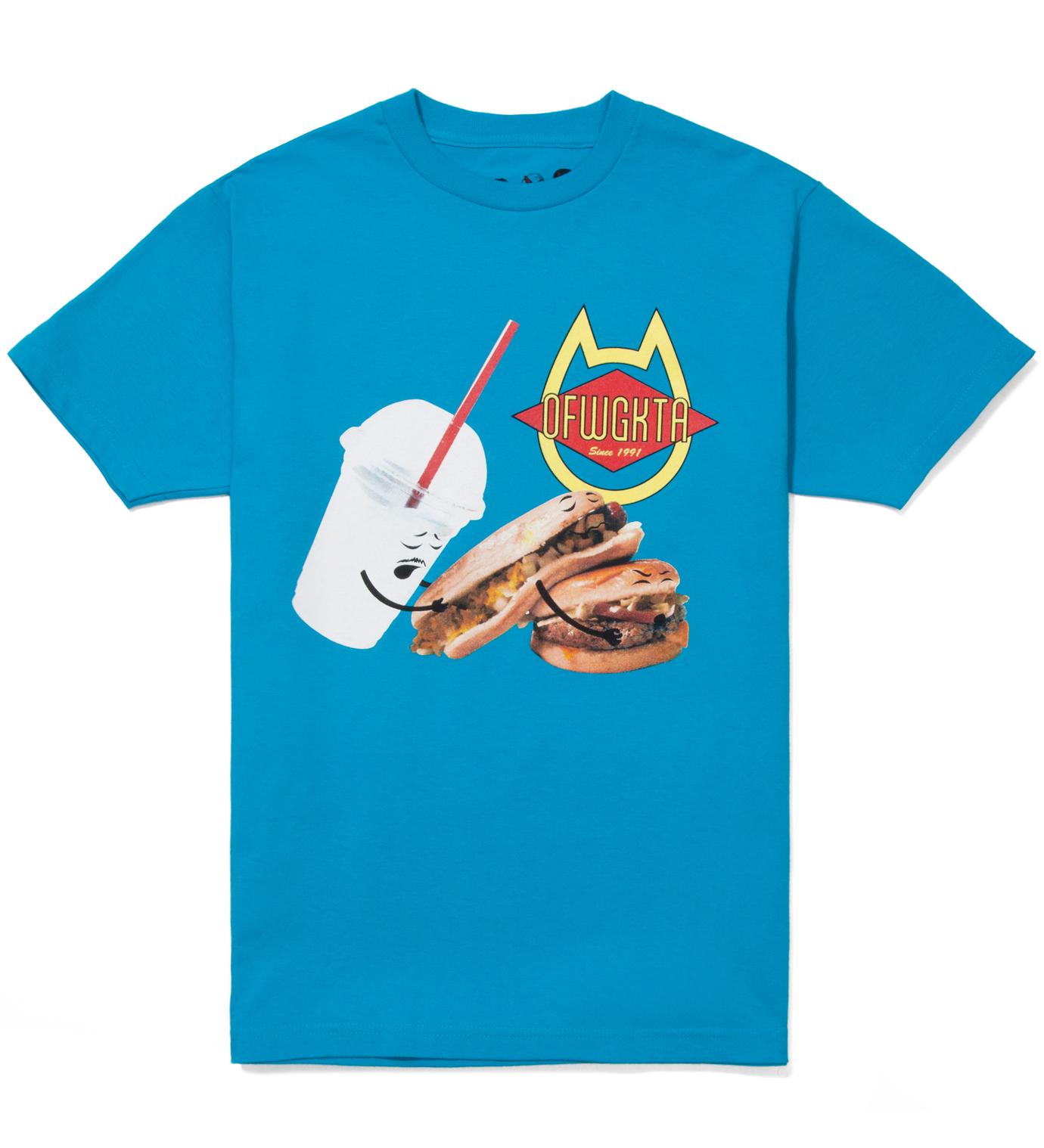 Odd Future Blue Shake, Hot Dog, Hamburger Summer 2012 T-Shirt