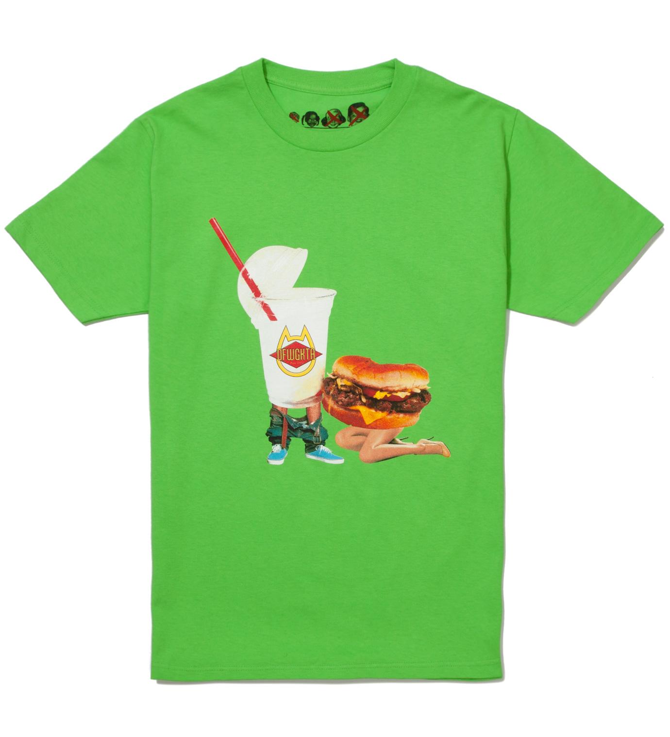 Odd Future Lime Green Milkshake Head Summer 2012 T-Shirt