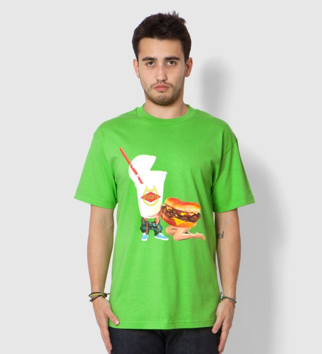 Odd Future Lime Green Milkshake Head Summer 2012 T-Shirt