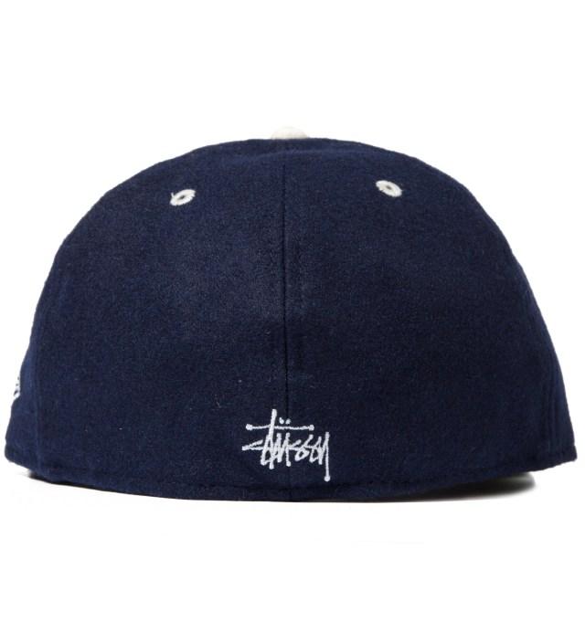 Stussy Navy Melton Old S New Era Cap