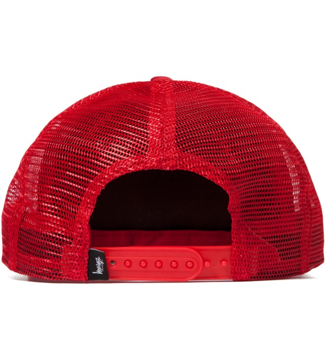 Stussy Red No 4 Mesh Snapback Ballcap