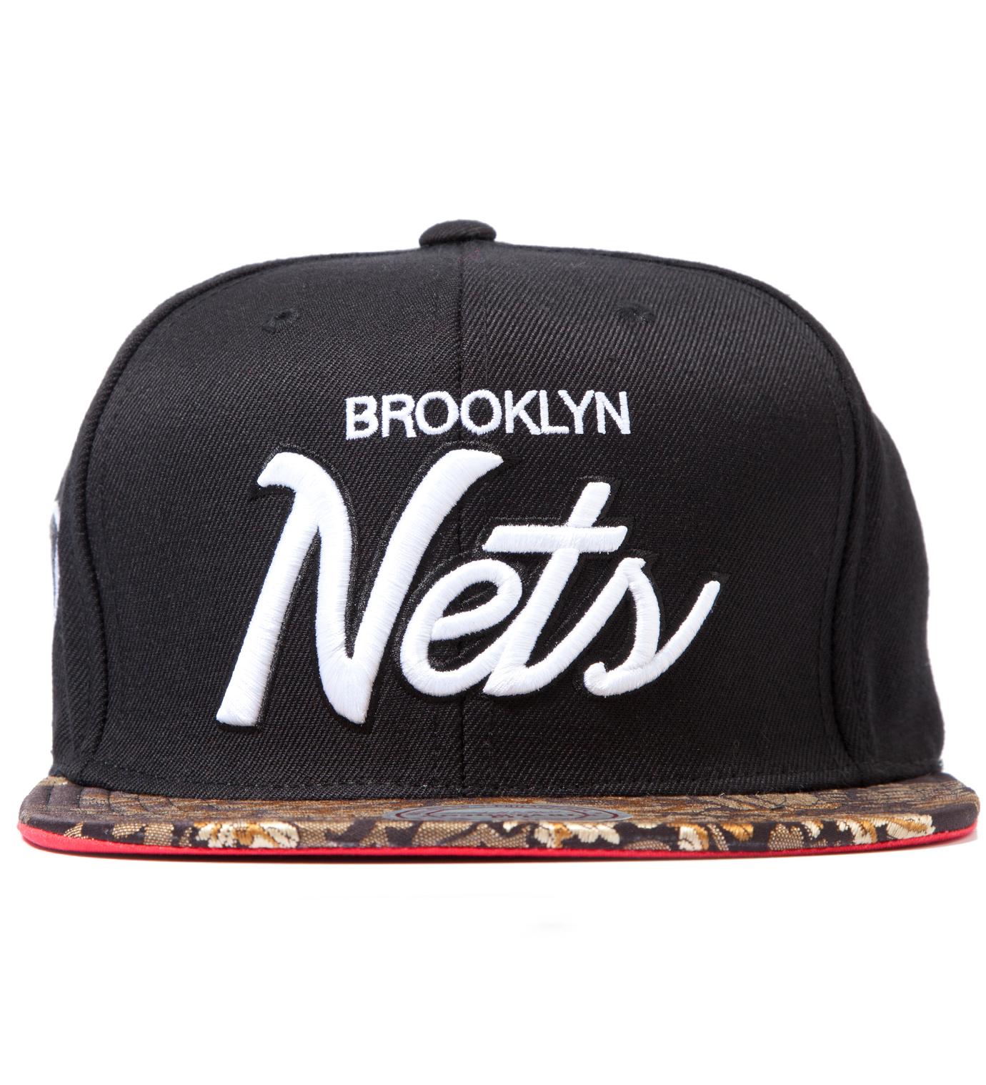 The Genesis Project Brooklyn Nets Script Floral Strap-Back Cap
