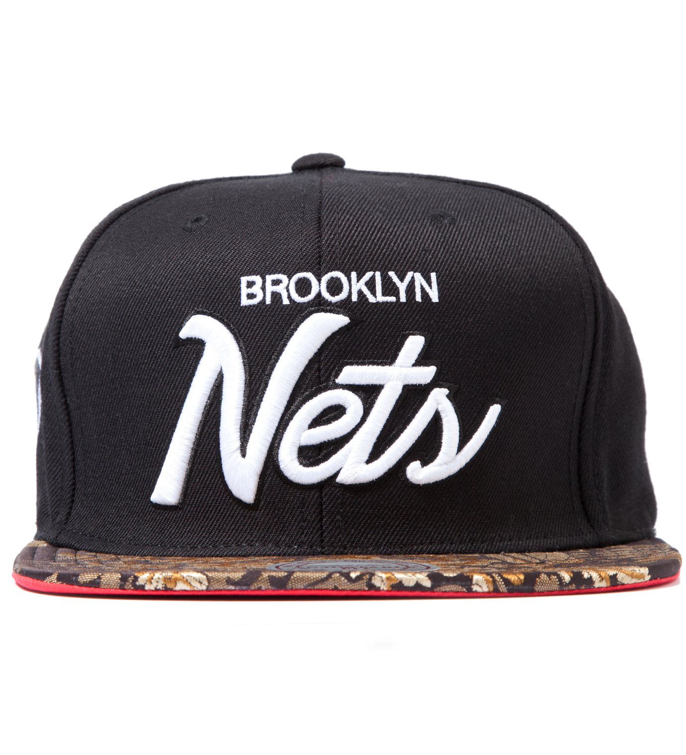 The Genesis Project Brooklyn Nets Script Floral Strap-Back Cap