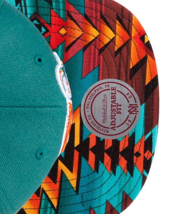 The Genesis Project Teal Miami Dolphins Teal Navajo Strap-Back Cap