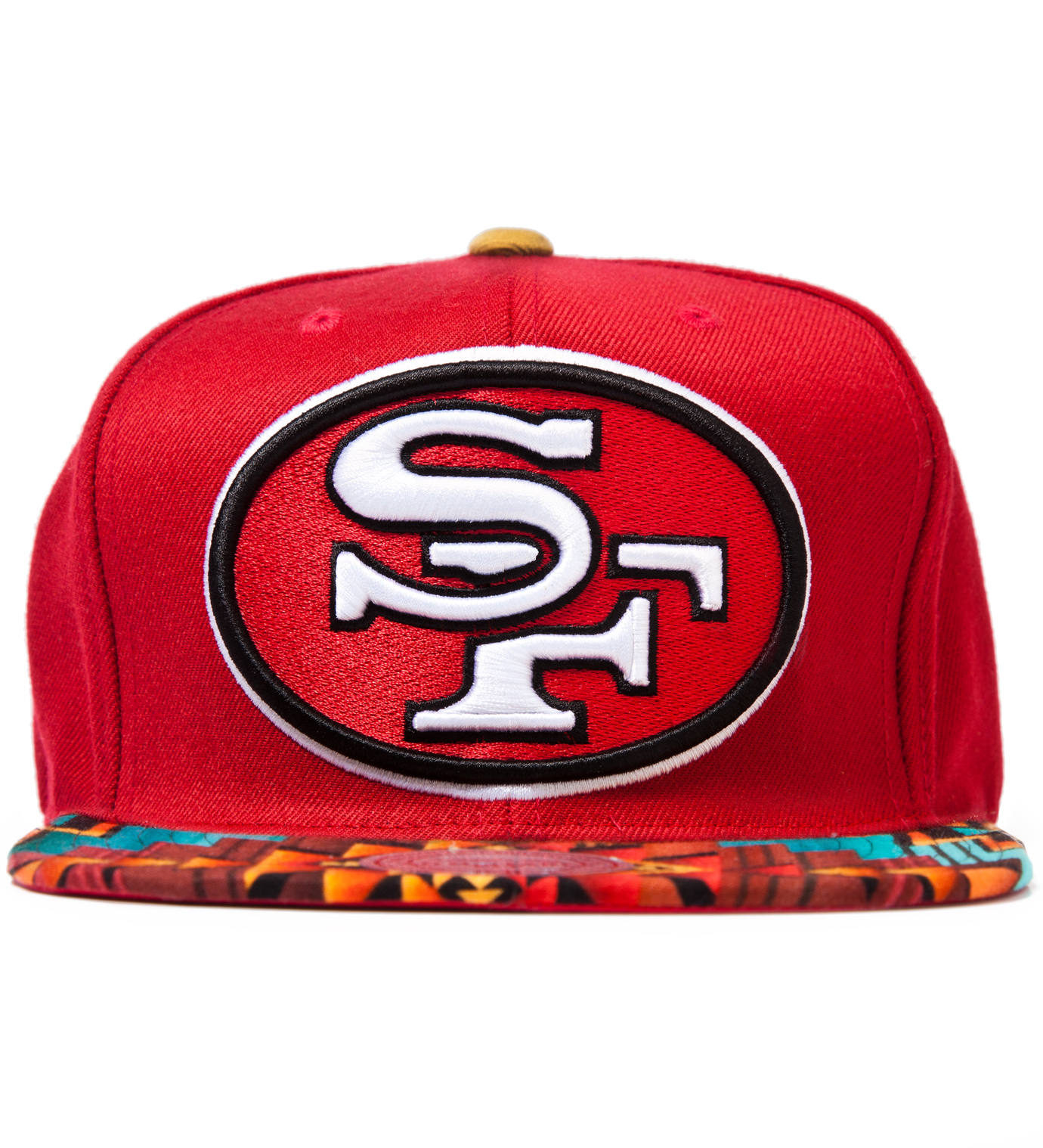 The Genesis Project San Francisco 49ers Teal Navajo Strap-Back Cap