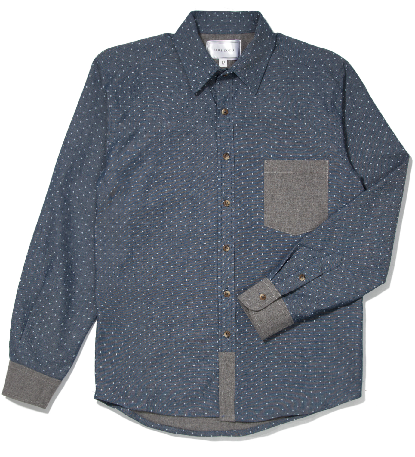 Still Good Polka Dots Chambray Confort Shirt