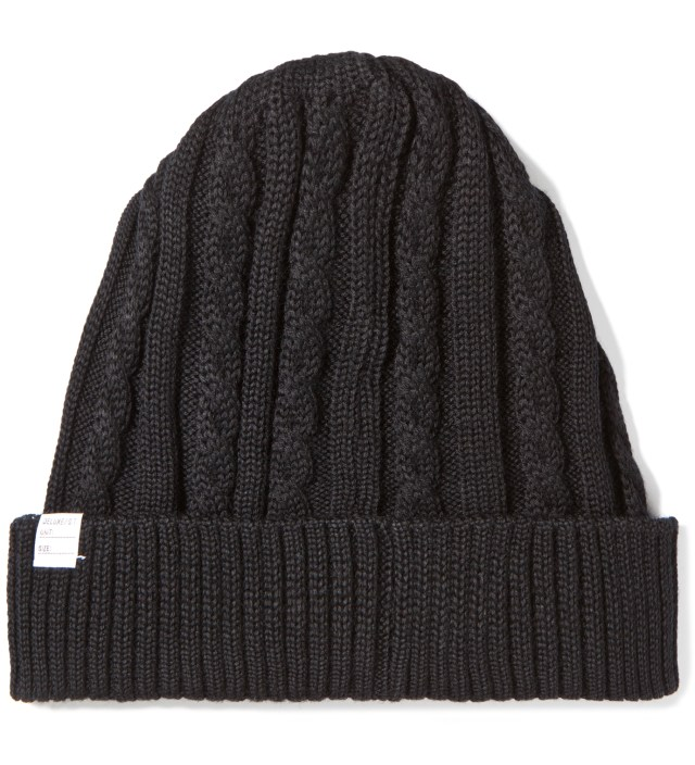 DELUXE Black Feather Beanie