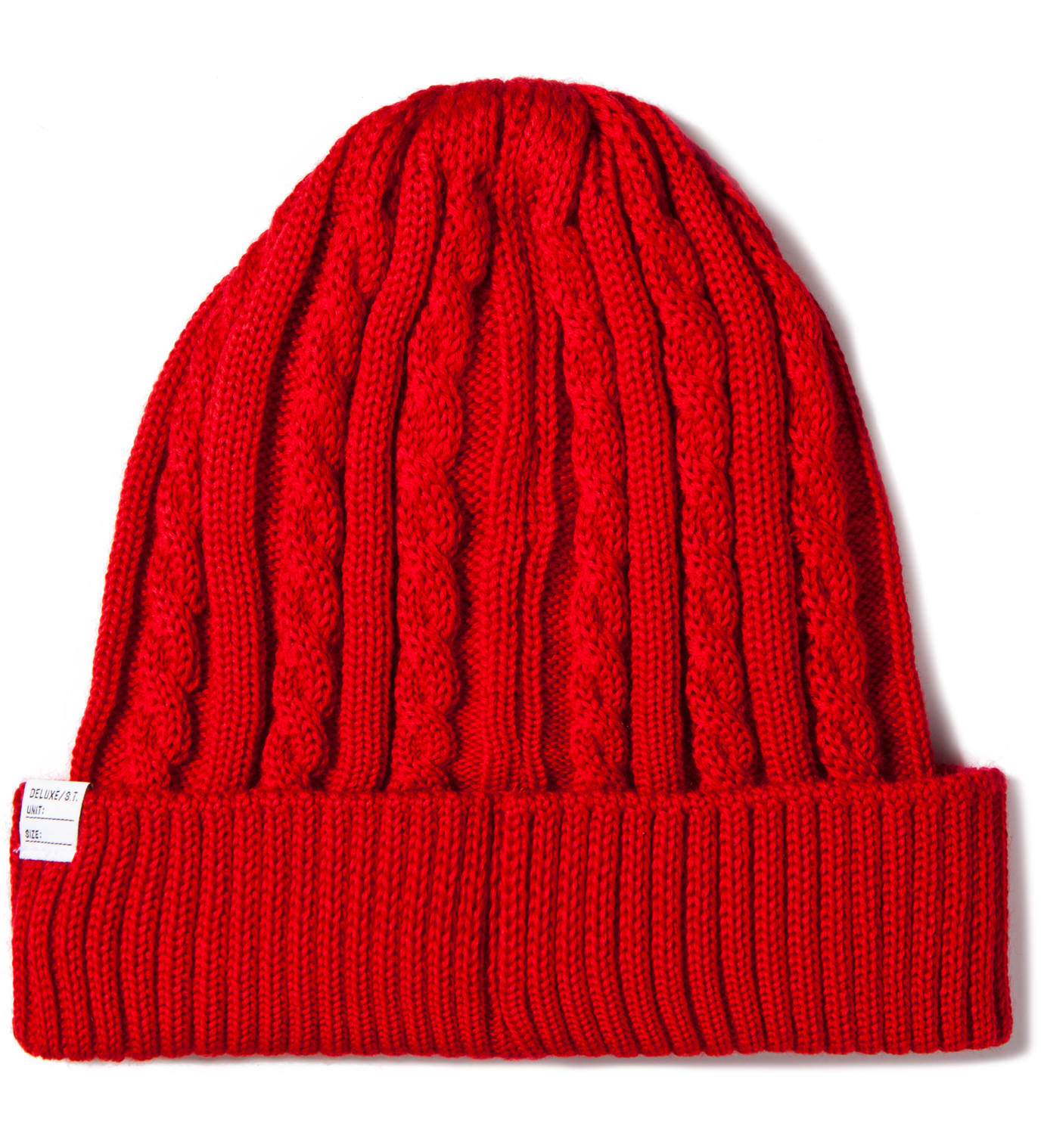 DELUXE Red Feather Beanie