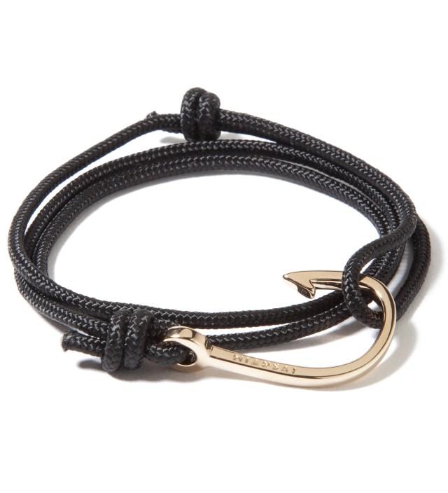 Miansai Gold Hook on Black Rope Bracelet