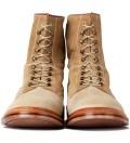 GARBSTORE Garbstore x Grenson Tan High Leg Leather Sole Boot
